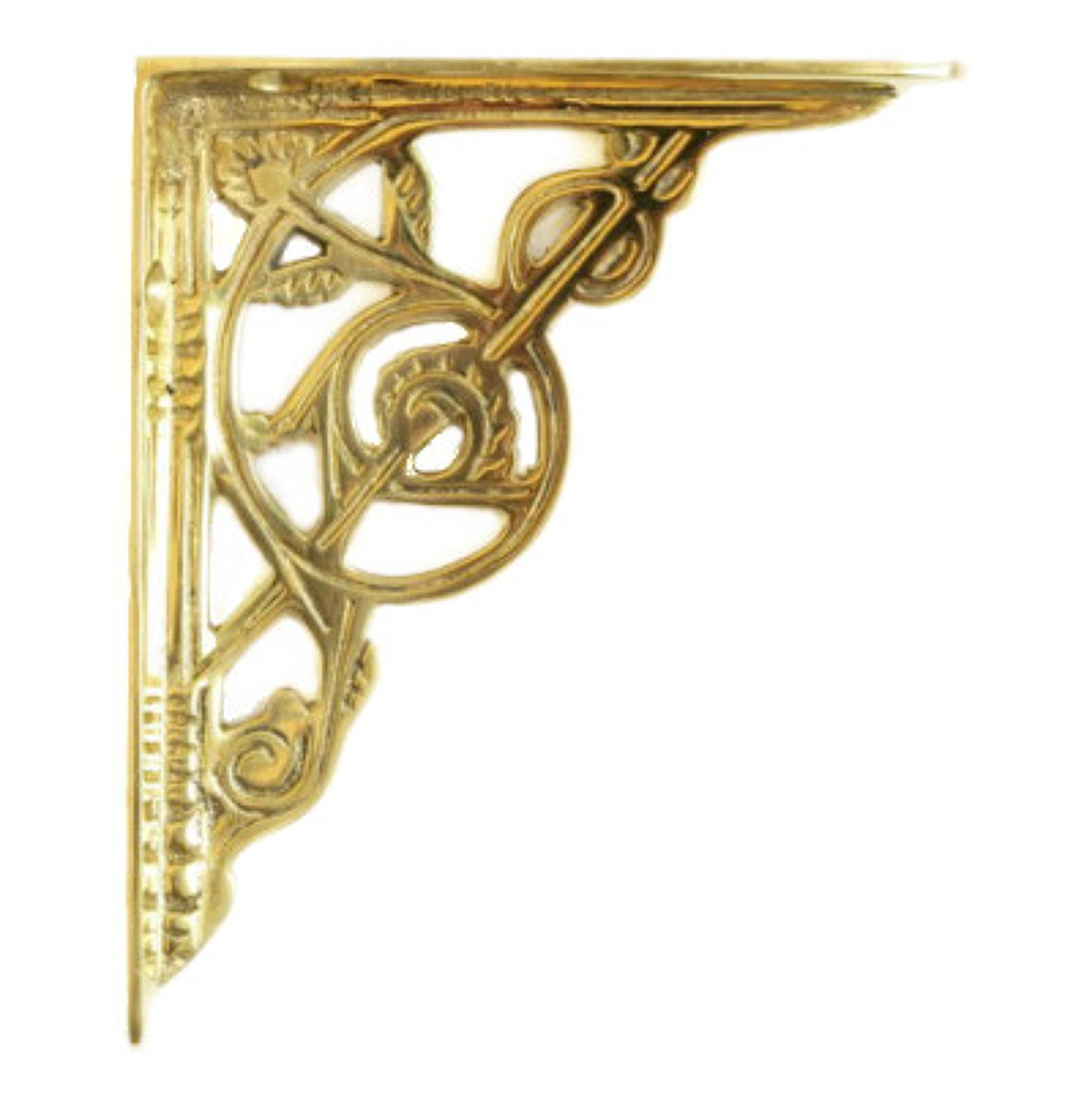 Small Brass Trellis Shelf Bracket