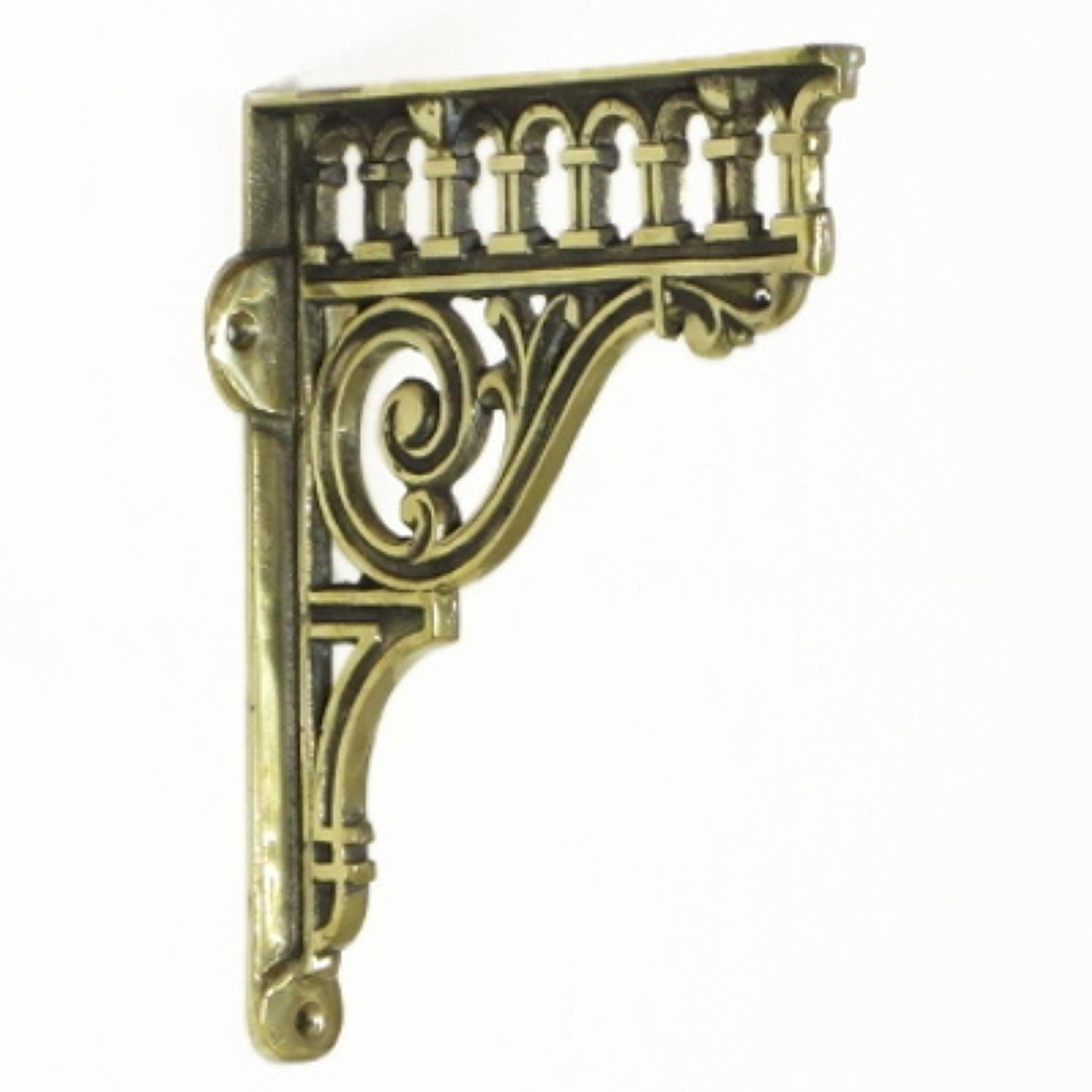 Solid Brass Classical Shelf Bracket