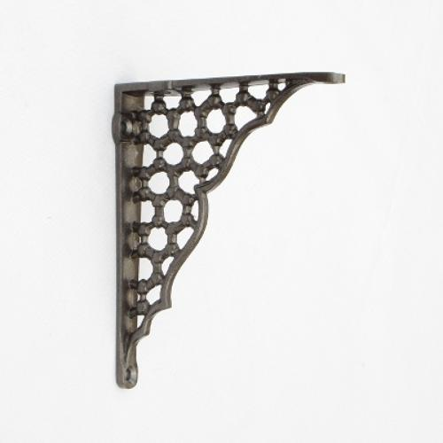 Small Cast Iron Honeycomb Shelf Bracket
