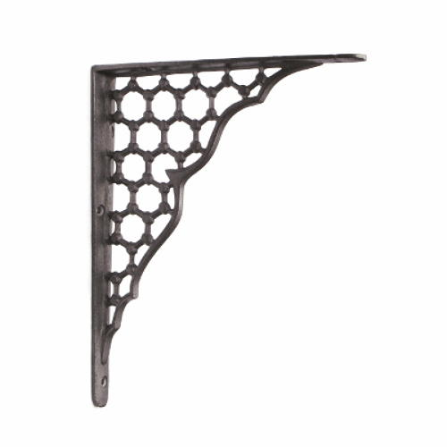 Large Cast Iron Honeycomb Shelf Bracket