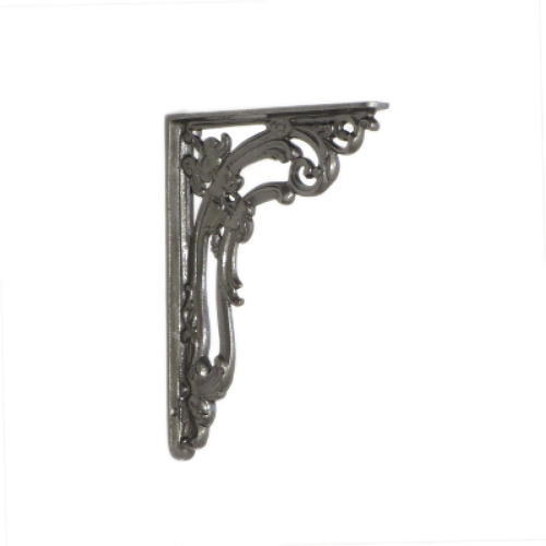 Small Cast Iron Victorian Scroll Leaf Shelf Bracket