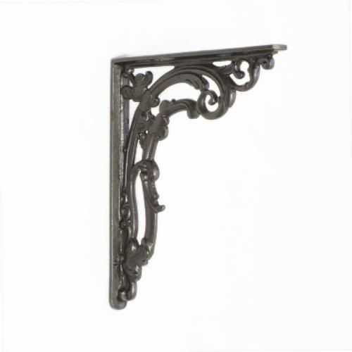 Medium Cast Iron Victorian Scroll Leaf Shelf Bracket