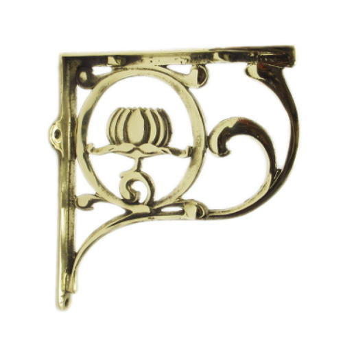 Solid Brass Art Nouveau Shelf Bracket