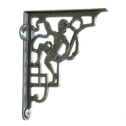 Cast Iron Cherub Shelf Bracket