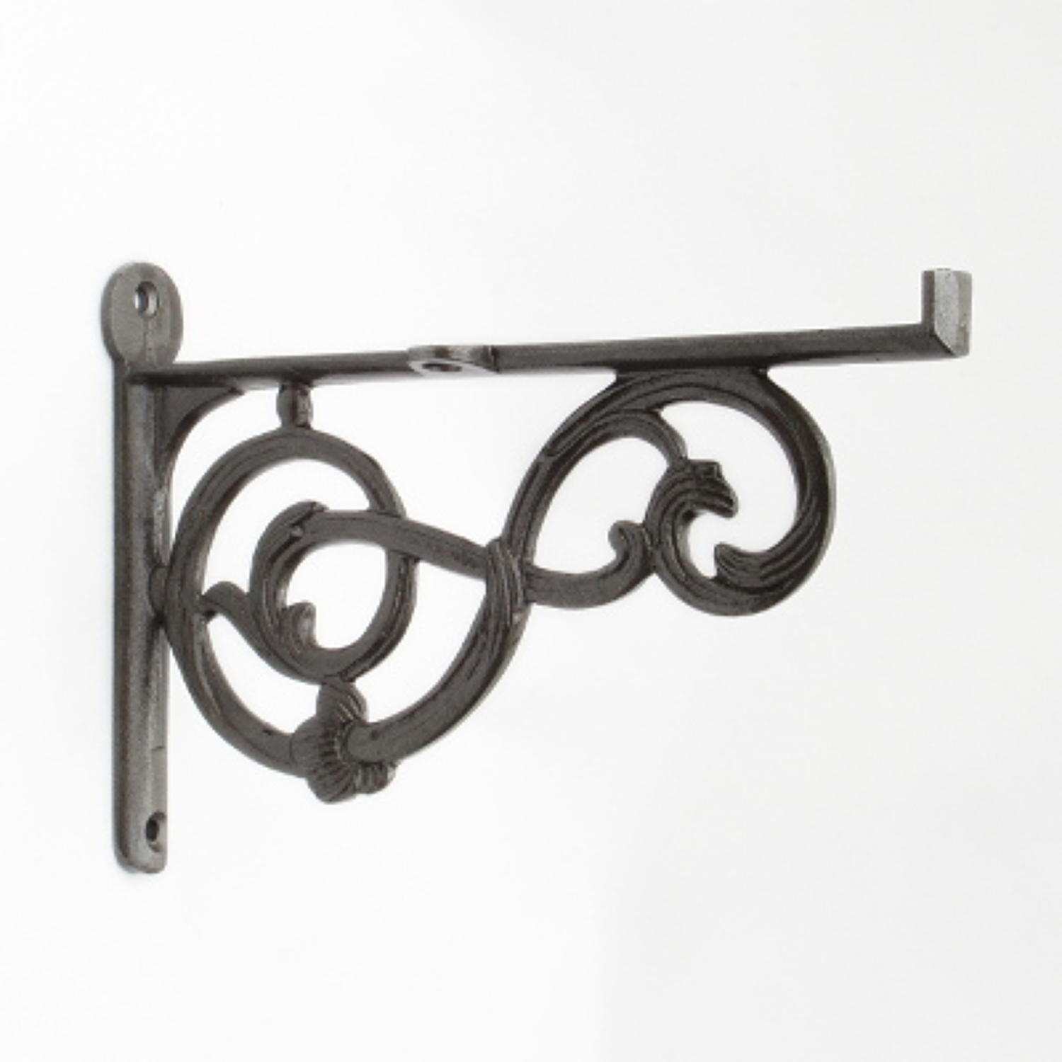 Cast Iron Victorian Scroll Lipped Shelf Bracket