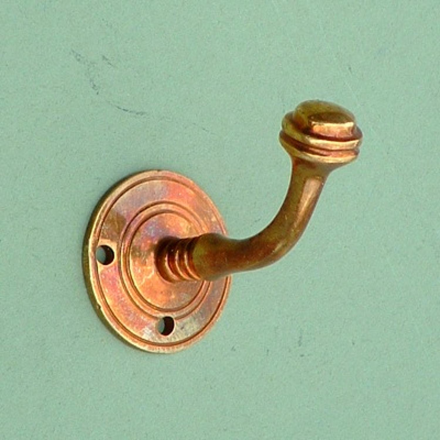 Aged Brass Single Bun Hook