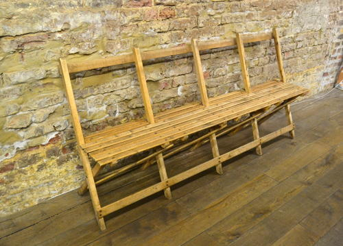 1920s Pine 4 Seater Bench