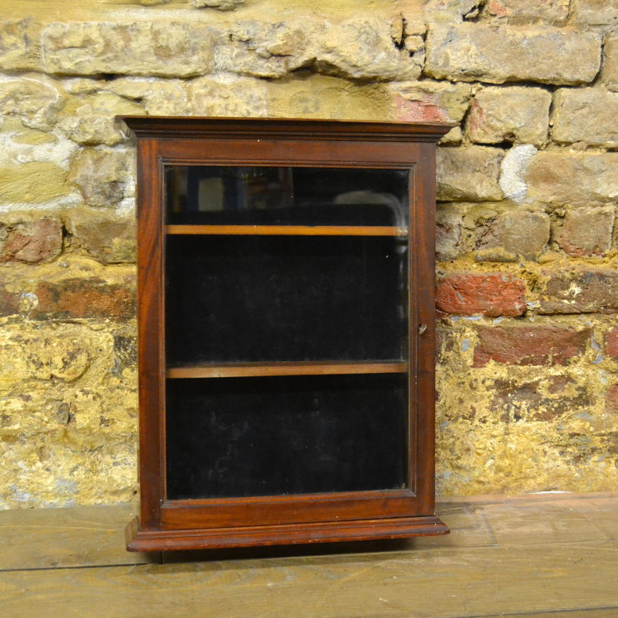 Small 1920s Mahogany Display Cabinet