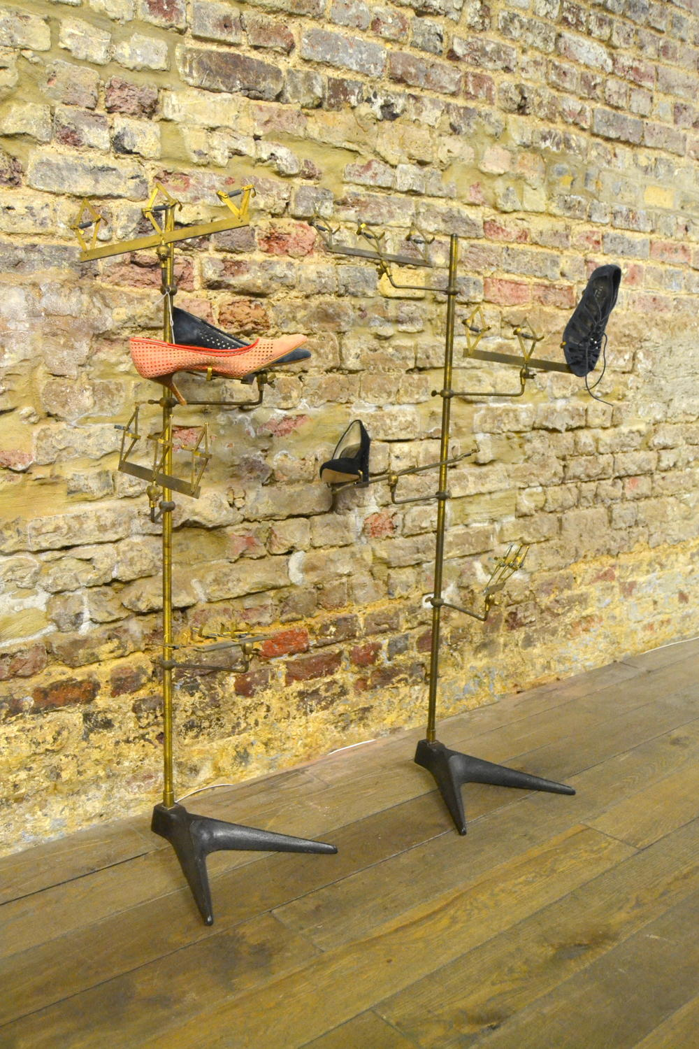 Bronze Iron 1950s Shoe Stands