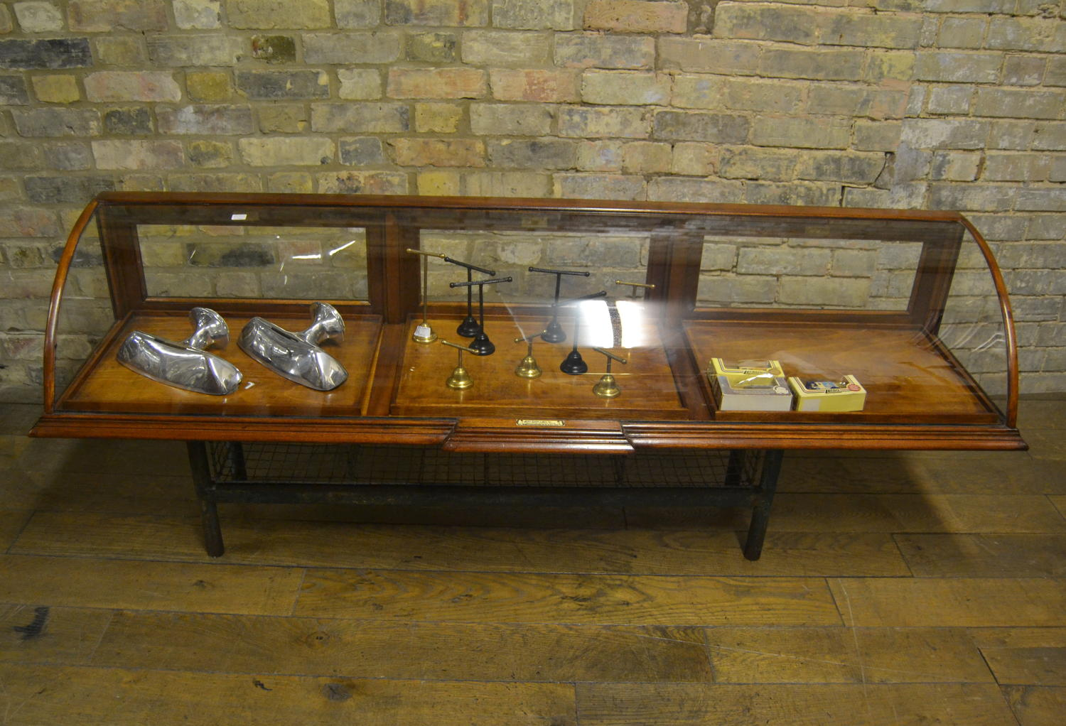 Mahogany Bow Jewellery shop  Display Cabinet