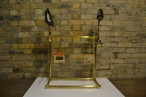 Bespoke Brass Counter Top Shelving