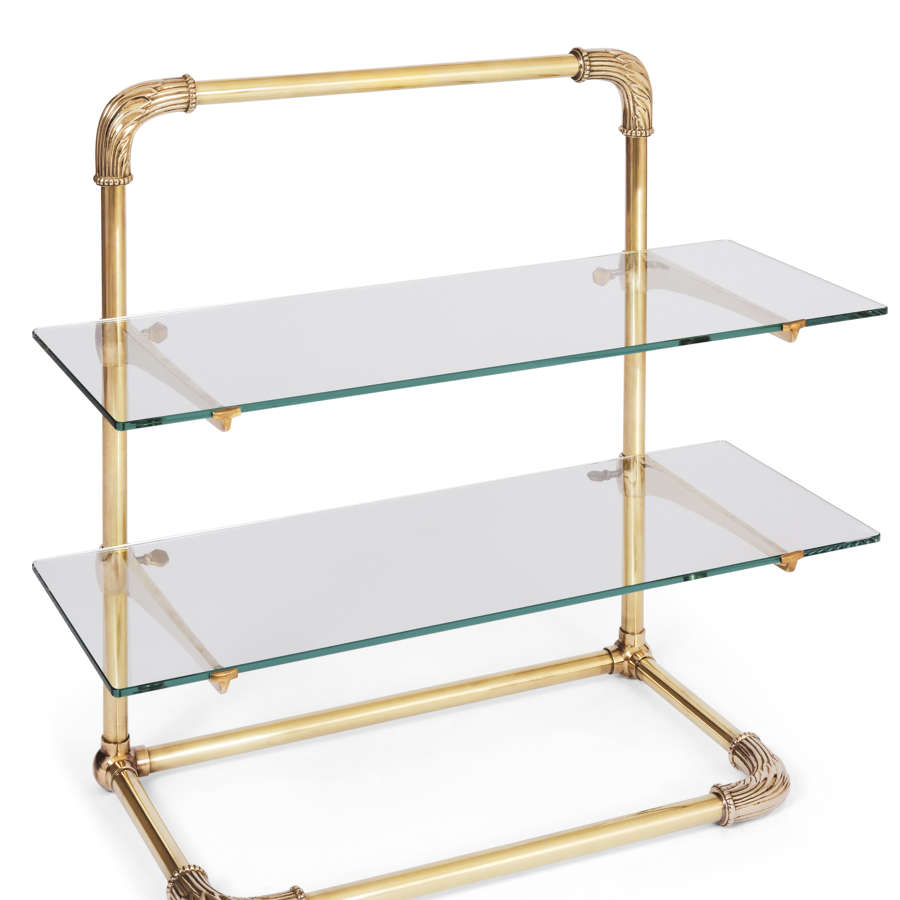 Bespoke Decorative Brass Counter Top Shelving