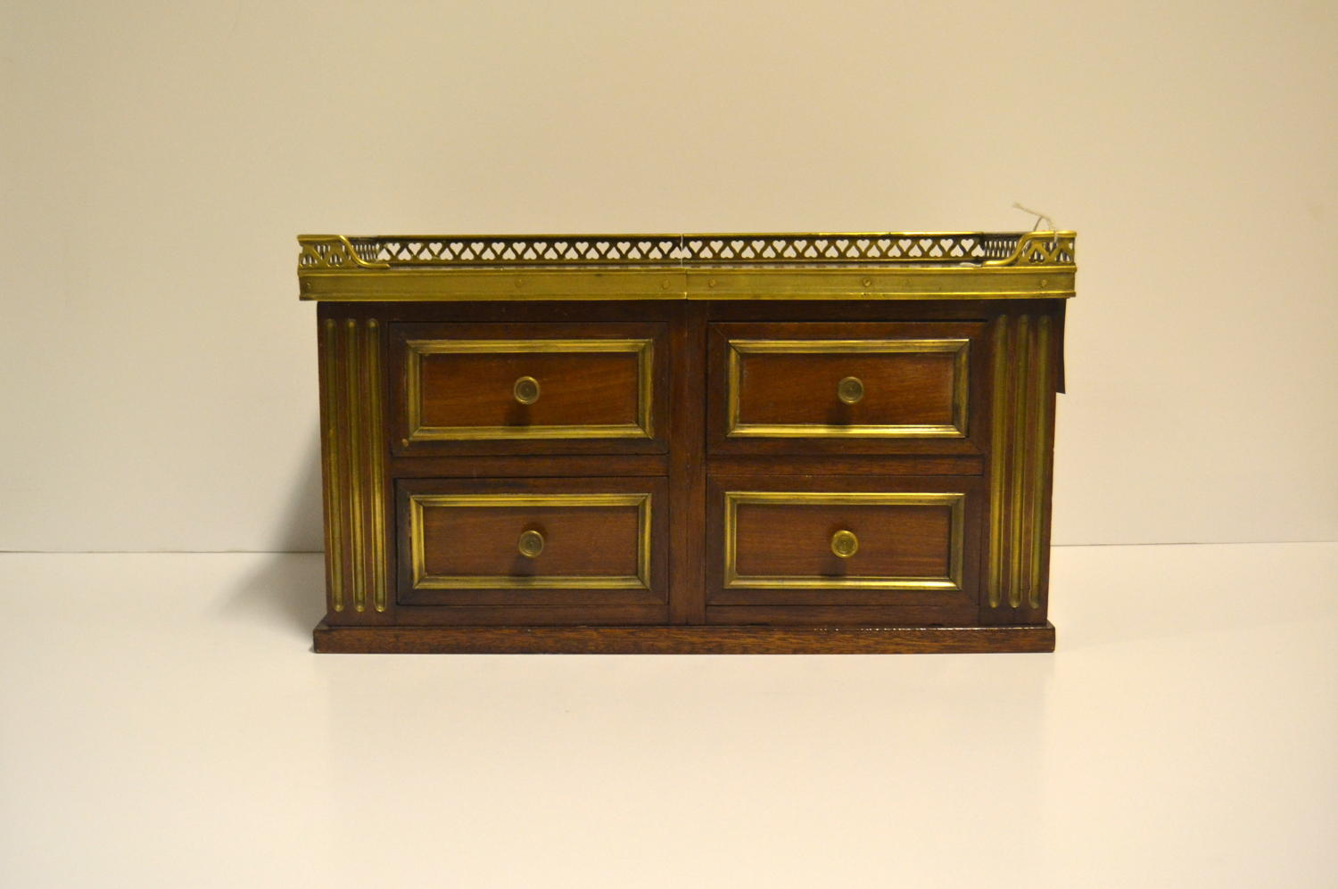Mahogany and Brass Jeweller's Storage Cabinet