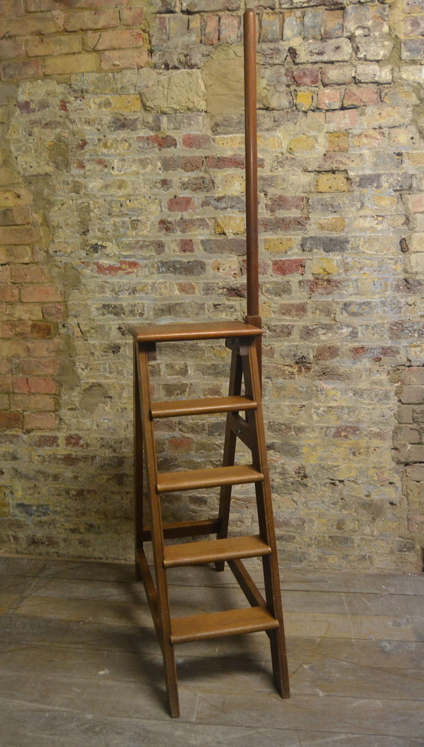 1950s Mahogany Step Ladder