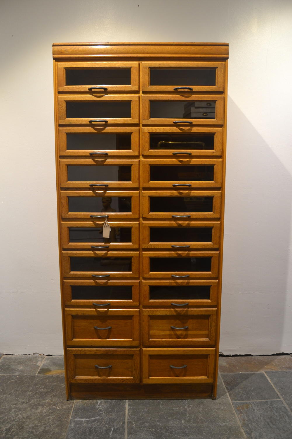 Pair of Oak Haberdashery Cabinets