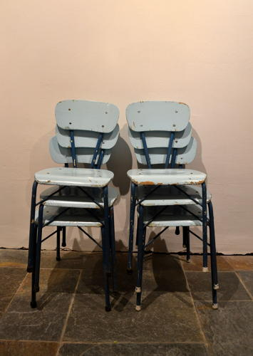 Set of Vintage Iron Chairs