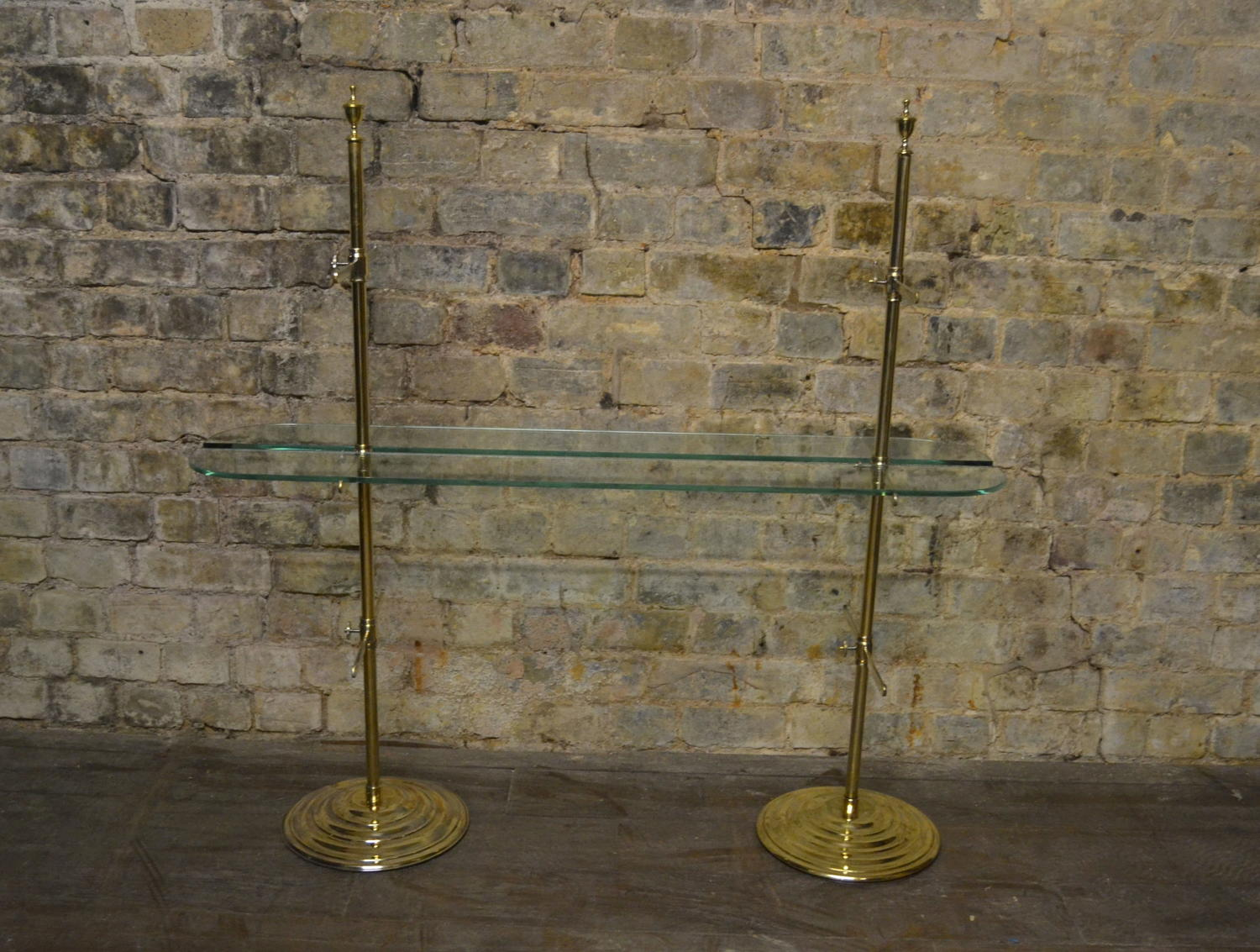 Brass Jewellery Shelves