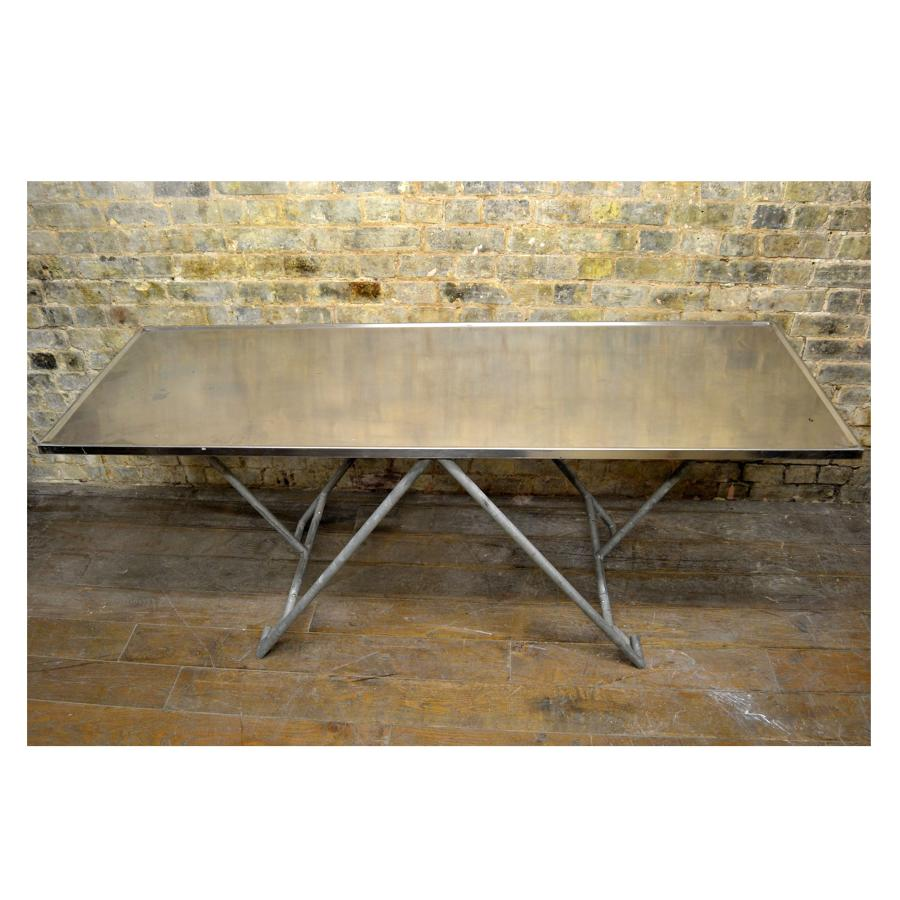 Chrome Military Table