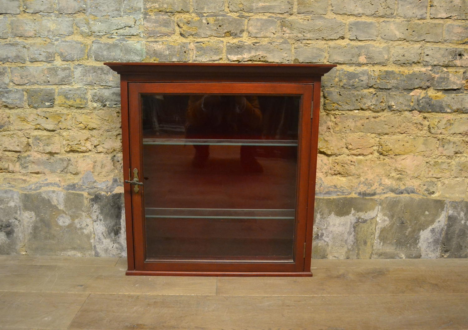 Small Mahogany Wall Display Cabinet
