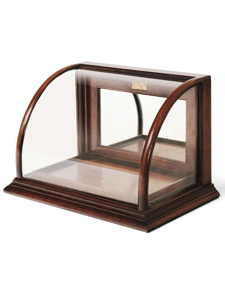Mahogany Bow Jewellery Counter Top Cabinet