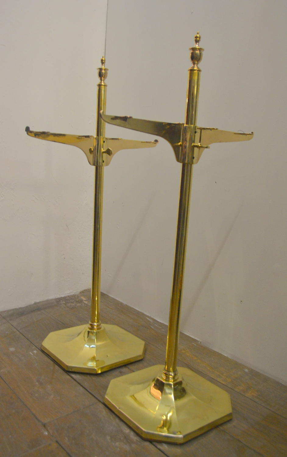 Brass Shelving Units
