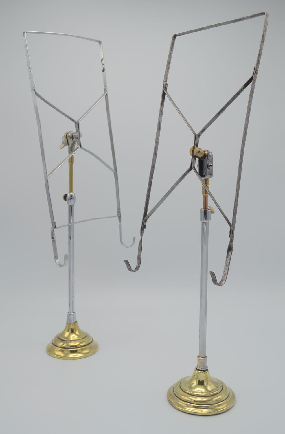 1930s English Brass & Iron Shirt Stands