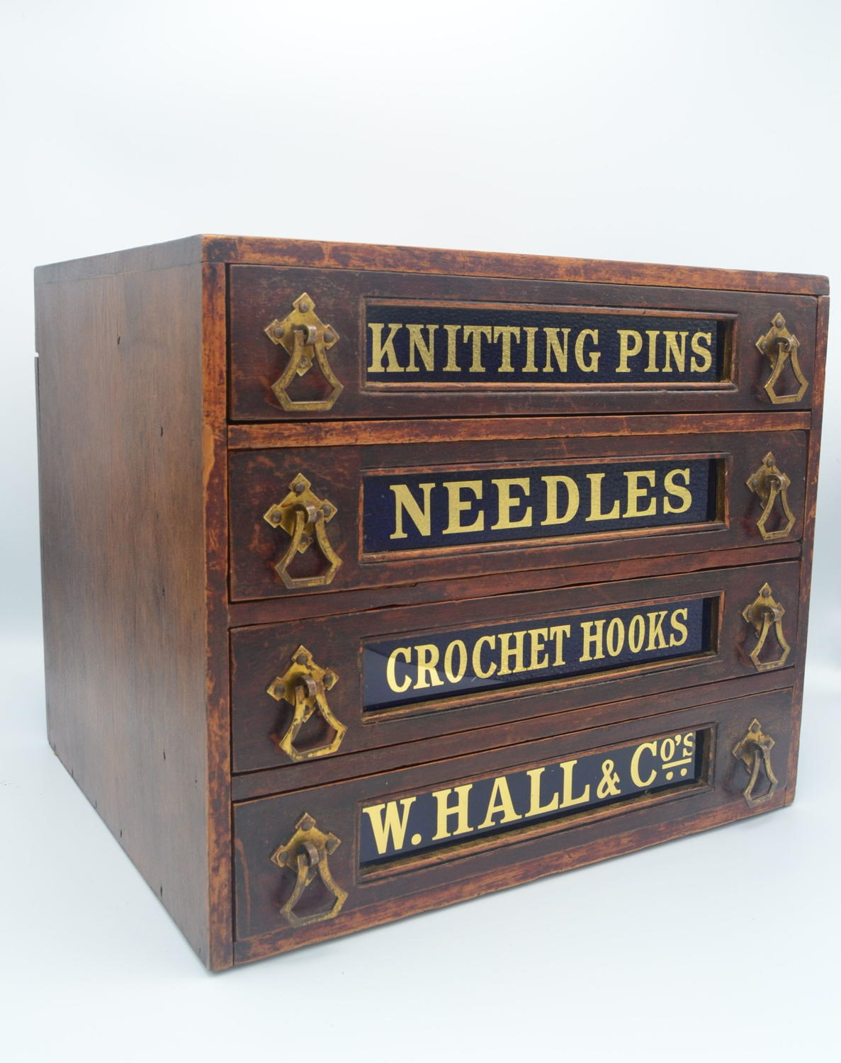 Antique Haberdashery Drapers Needle Drawers