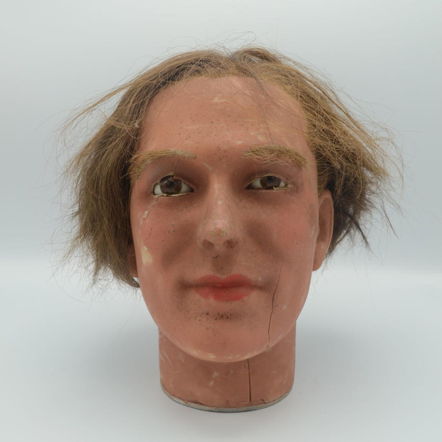 Antique Wax Mannequin Head