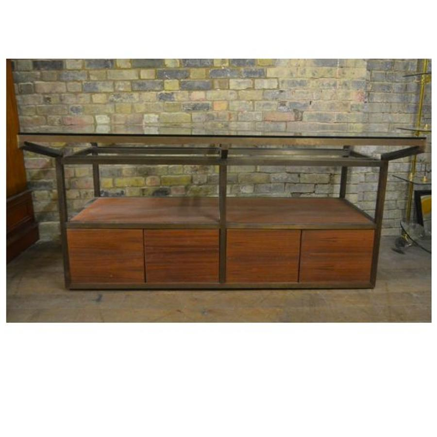 Vintage Brass Shop Display Table