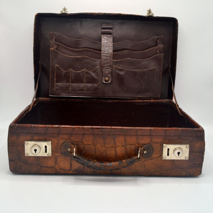 1920s Crocodile Suitcase