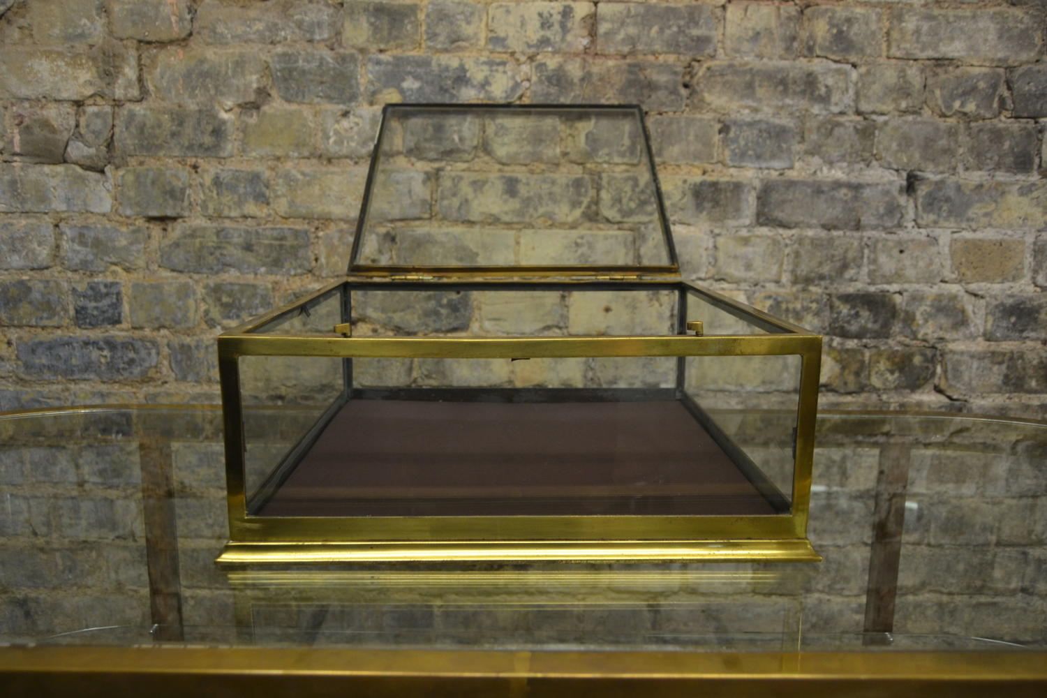 Brass Jewellery Display Cabinet