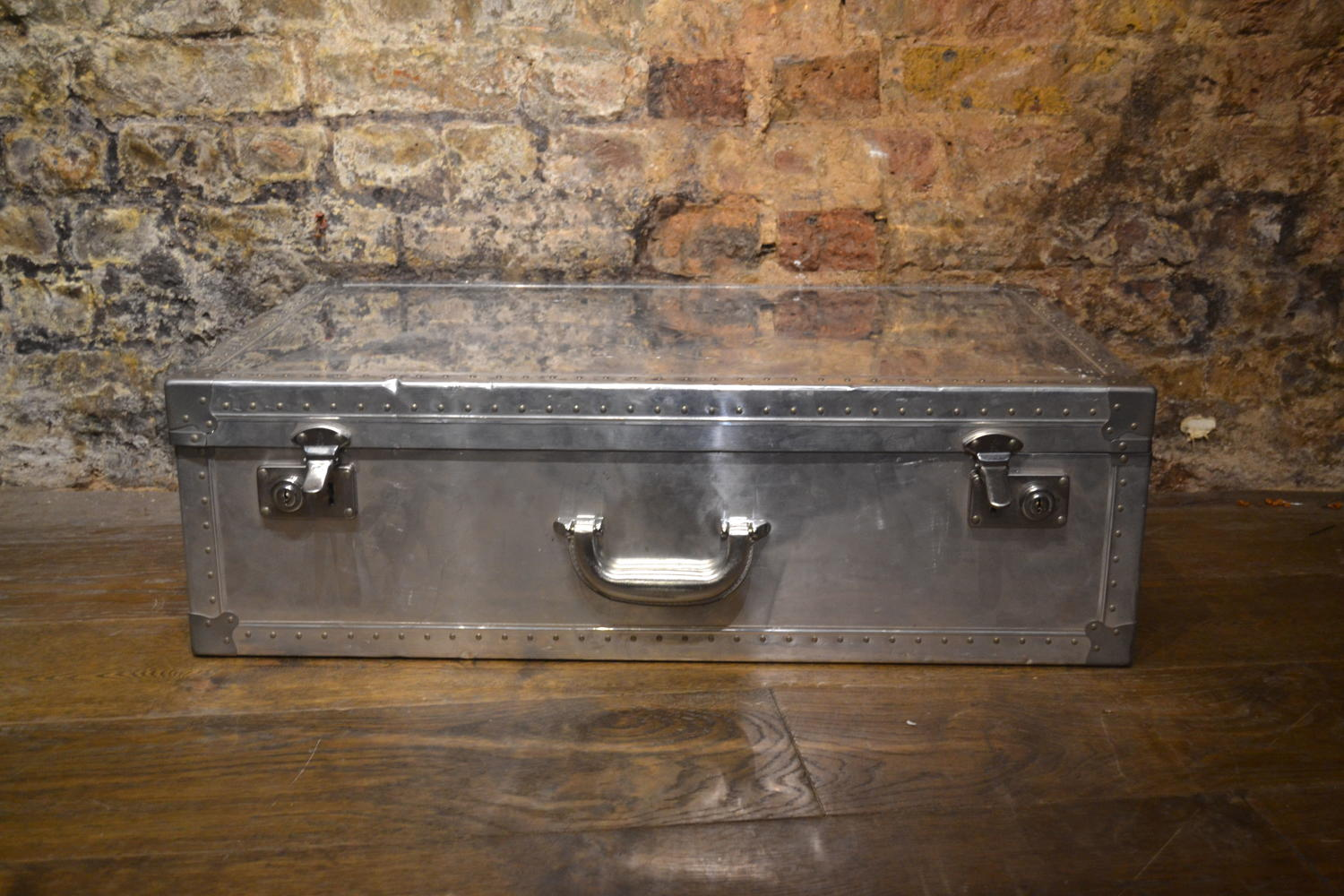 Polished Aluminium Dunhill Suitcase