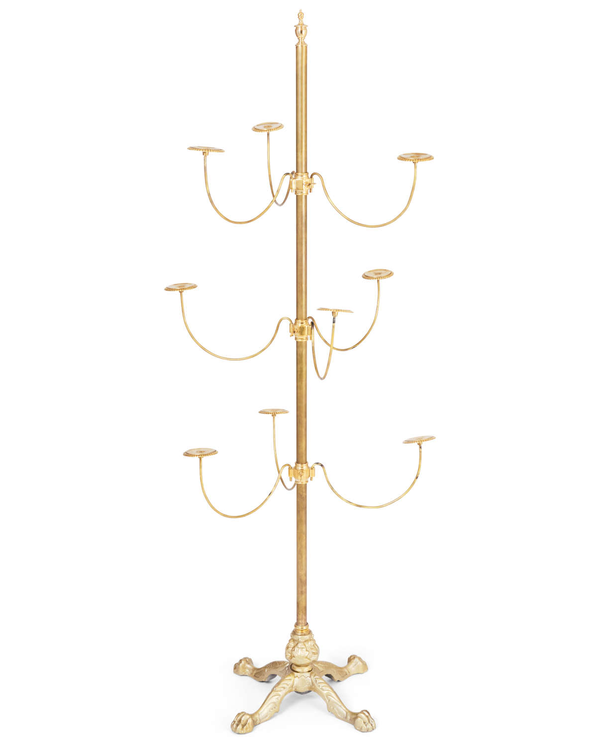 Victorian style brass Hat Stand with 9 arms