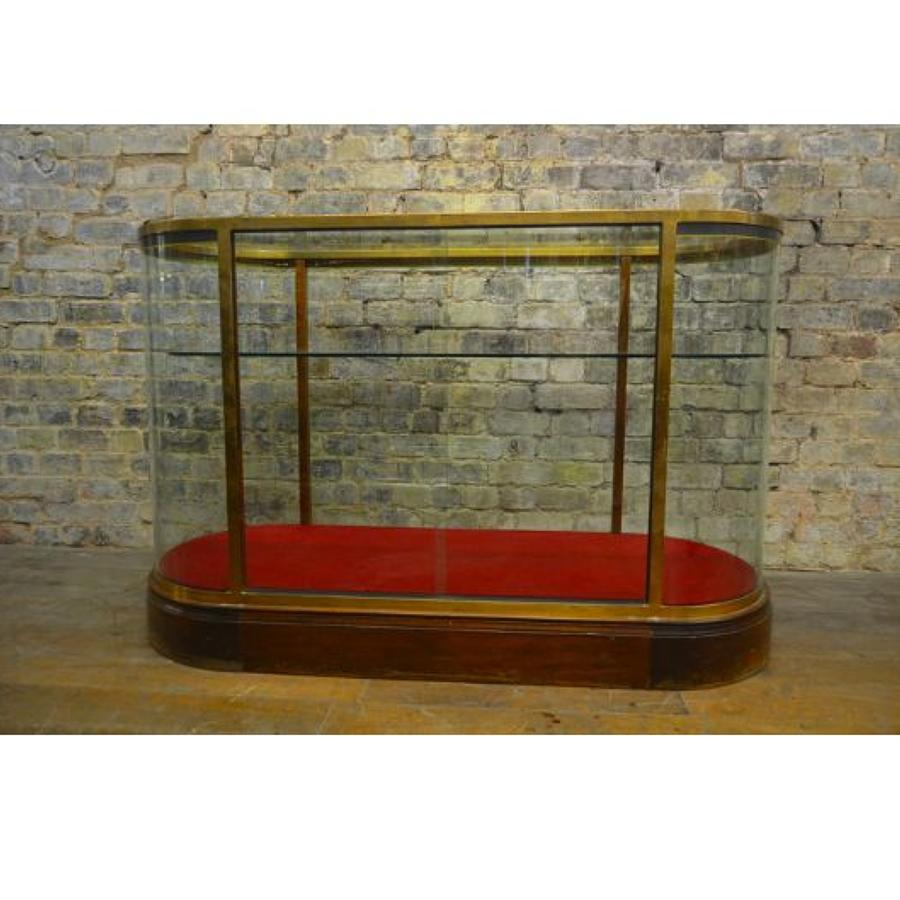 1930s Brass Double Ended Bow Shop Counter