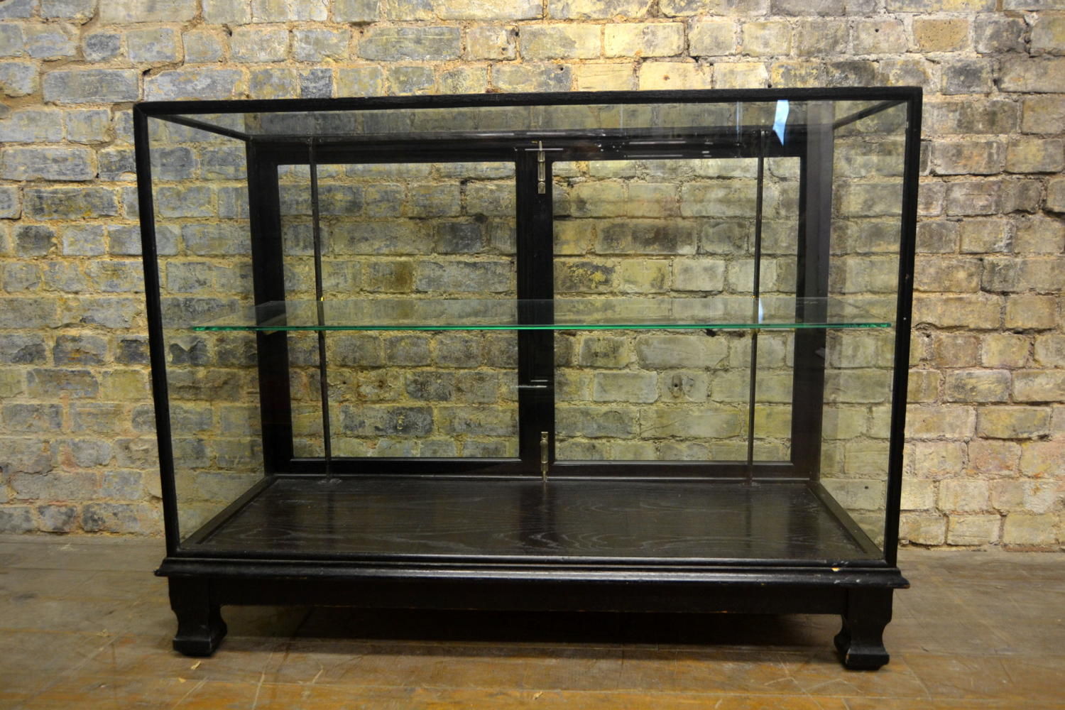 1920s Black Shop Display Counter