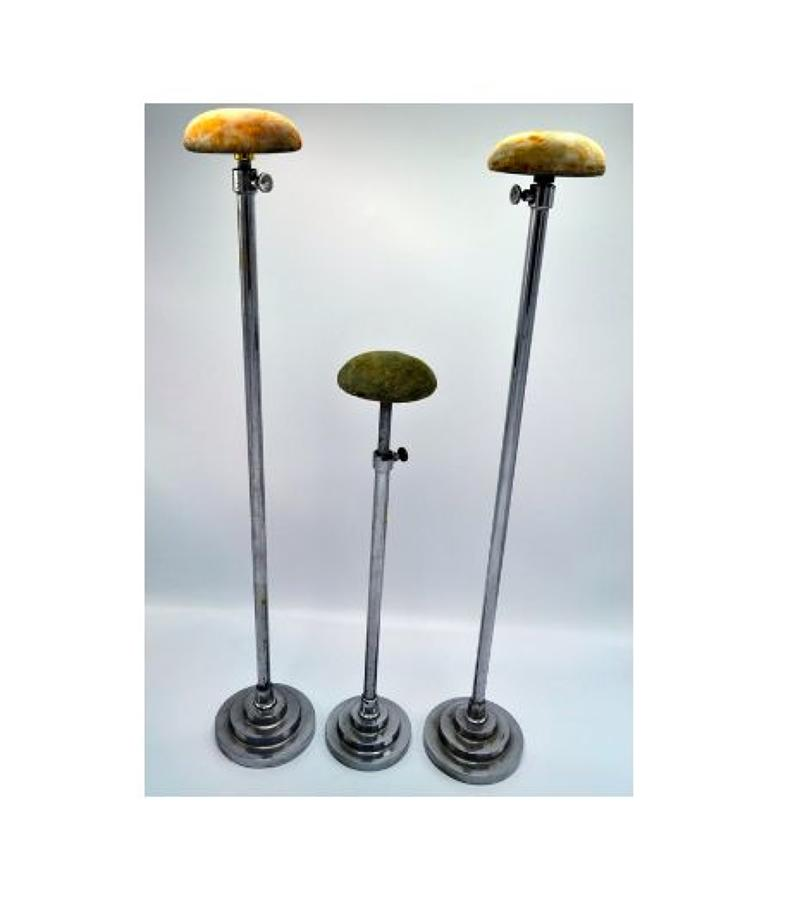 Set of 5 Chrome Display Stands