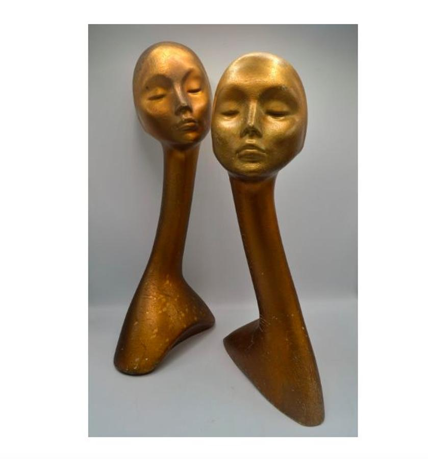 Two Gold Display Heads