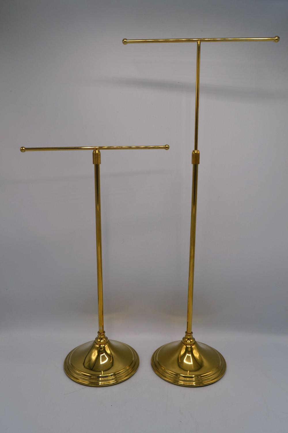 Medium Brass T Stands for Jewellery