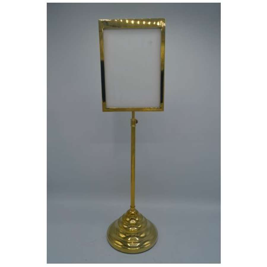 Brass Display Frame on Stand