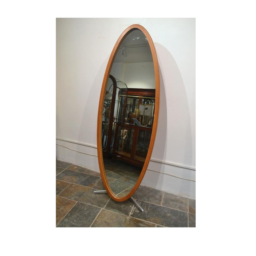 1980s Nigel Coates Oak Framed Mirror