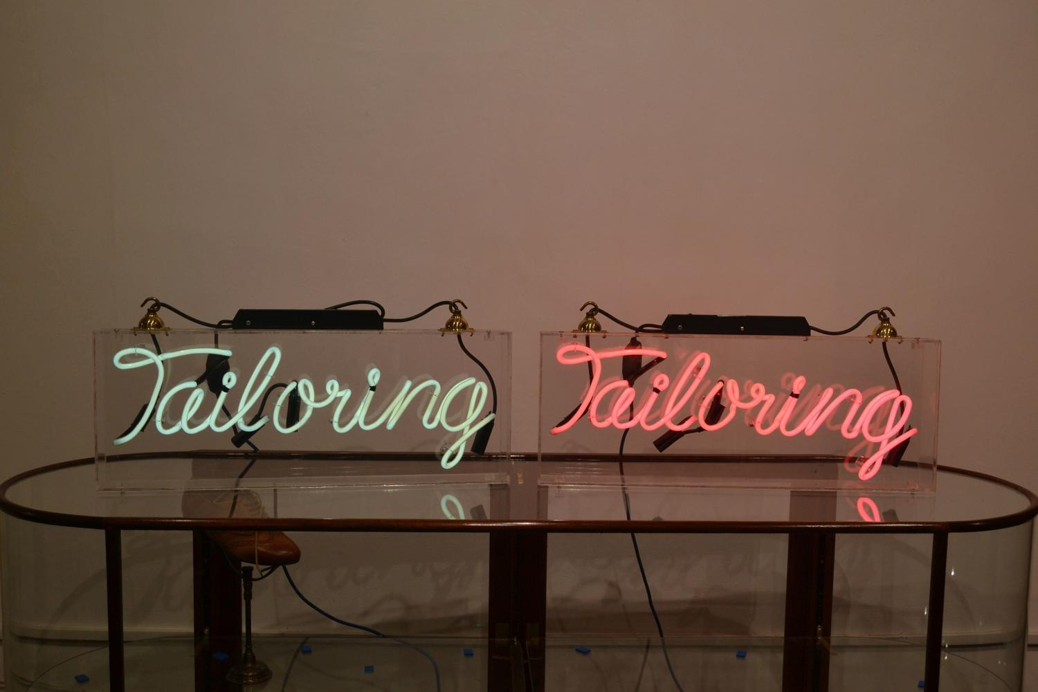 Pair of Halogen 'Tailoring' Signs
