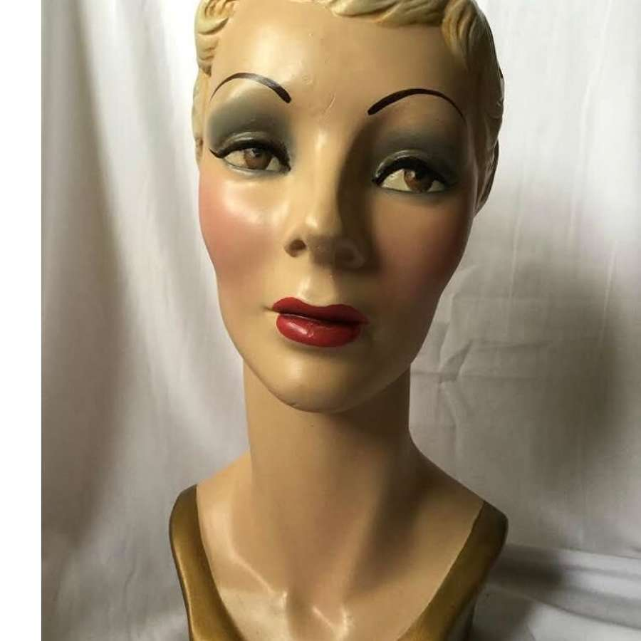 Vintage Blonde Mannequin Head