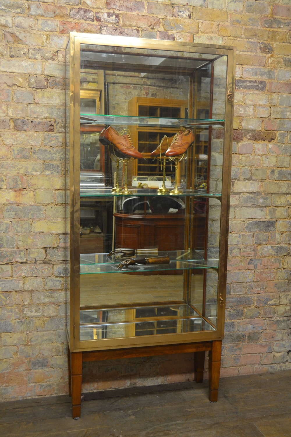 1920s Bronze Jewellery Display Cabinet