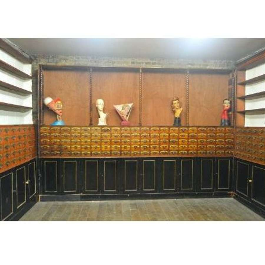 Antique Chemist Cabinets