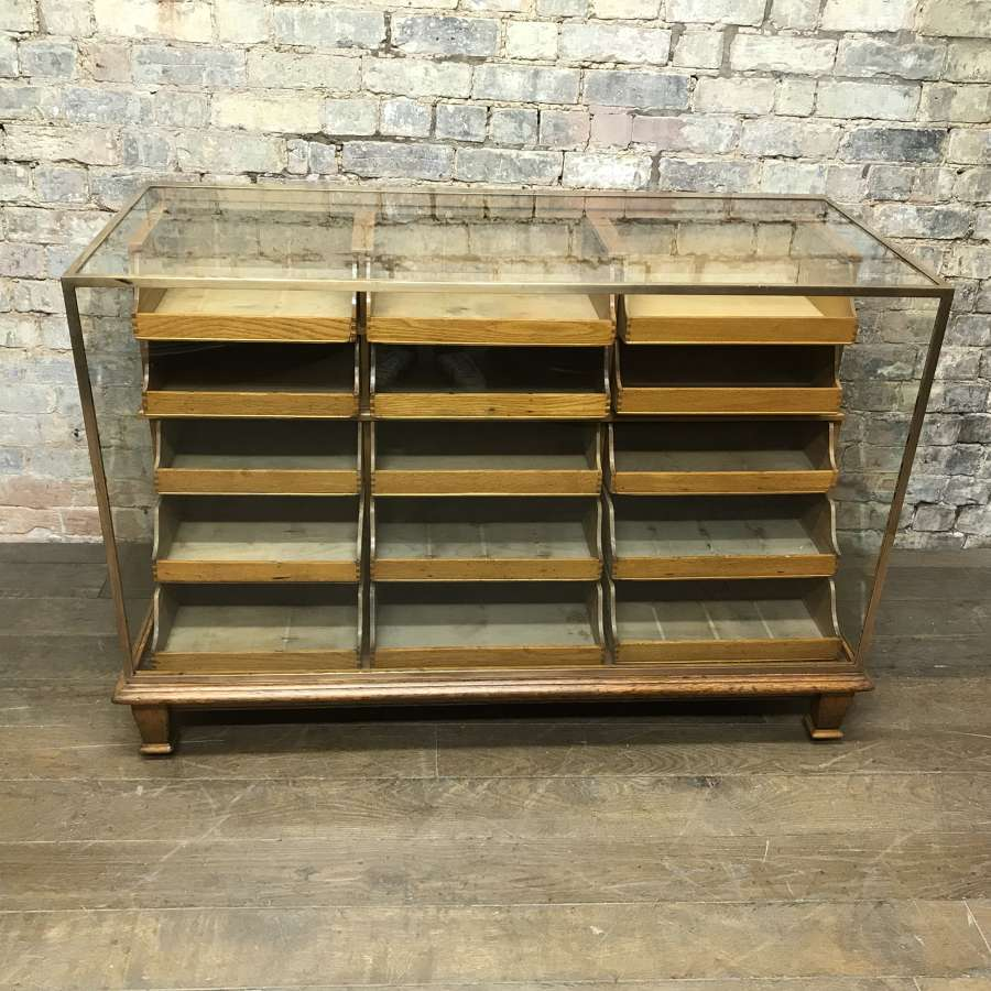 1920s Brass Haberdashery Shop Counter