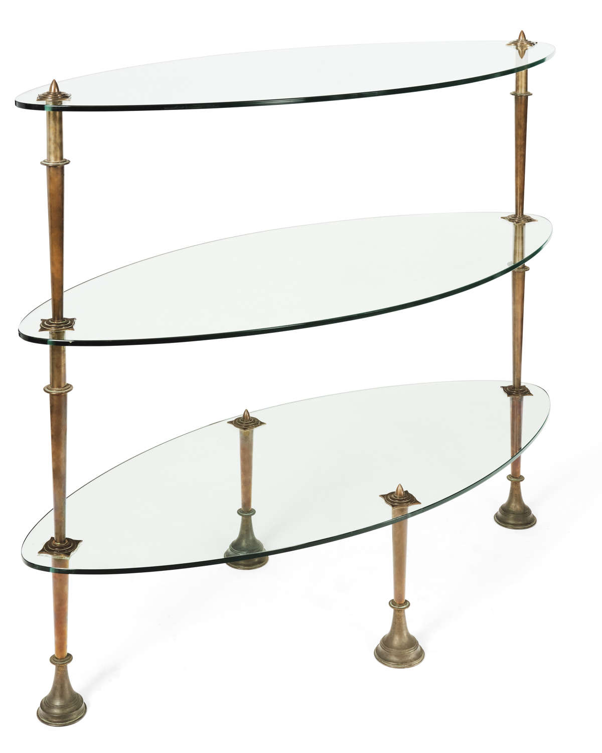 Glass Bronze Shop Shelving Unit