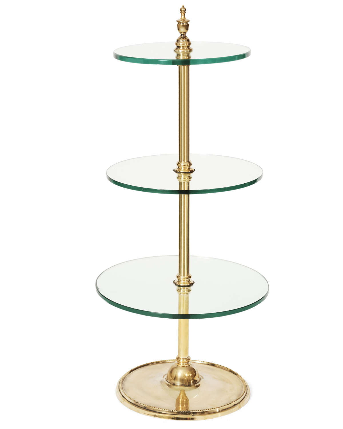Antique brass cake stand