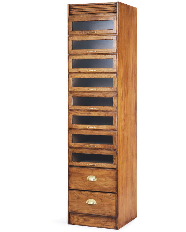 Single Stack Oak Haberdashery Cabinet