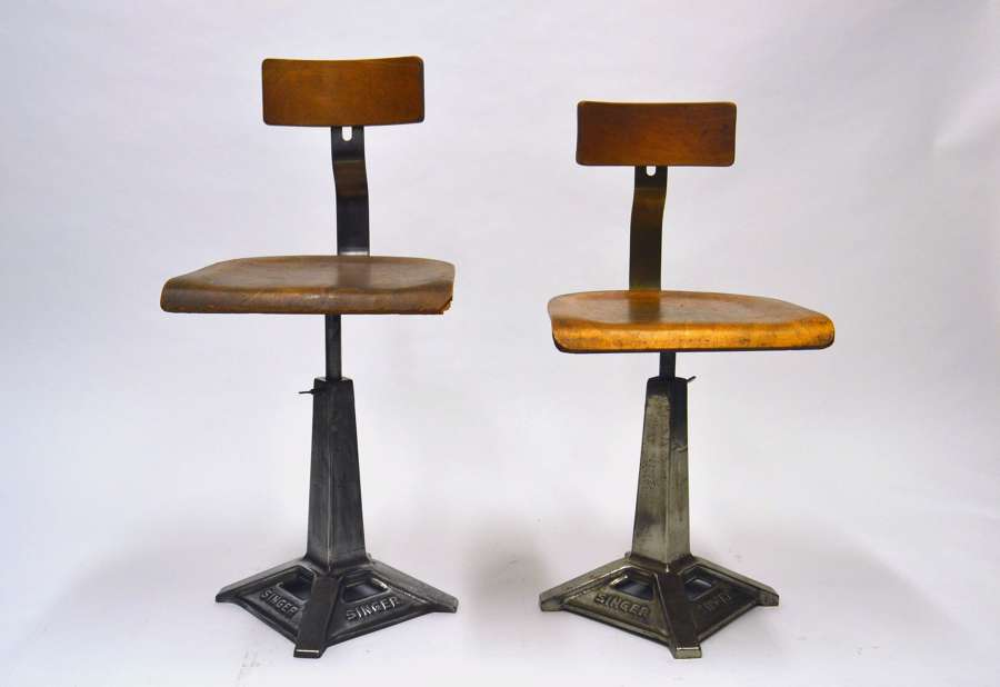 1930S Singer Sewing Machine Chairs