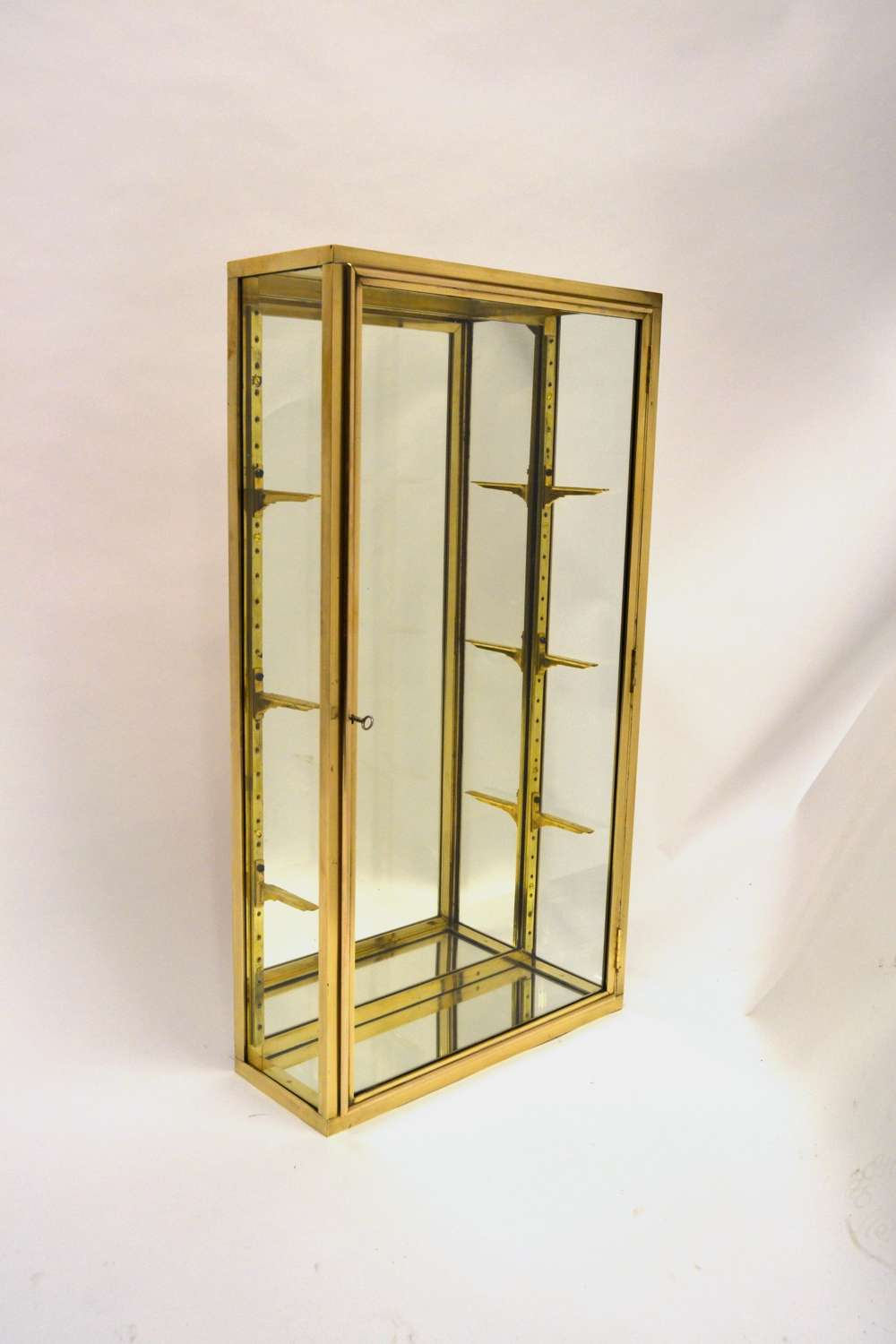 French Brass Jewellery Display Cabinet